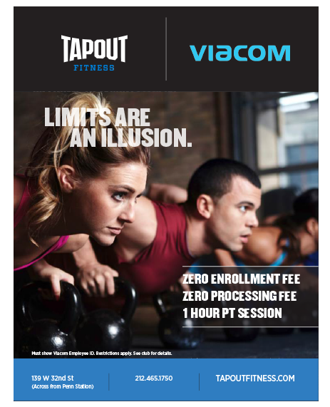 Tapout Fitness corporate flyer